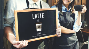 Concetto della bevanda della caffeina della schiuma della schiuma del latte del caffè del Latte fotografie stock libere da diritti