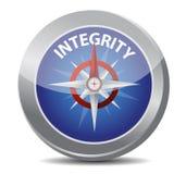 Concetto della bussola di integrità illustrazione di stock