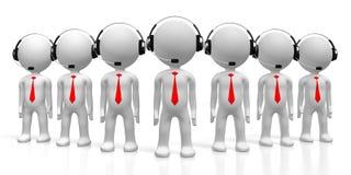 concetto della call center 3D Fotografie Stock