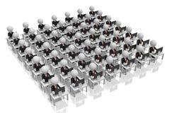 concetto della call center dell'ufficio 3D illustrazione vettoriale