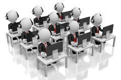 concetto della call center dell'ufficio 3D illustrazione di stock