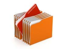 Concetto della cartella - archivi censurati - rappresentazione 3d Fotografia Stock