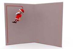concetto della cartolina d'auguri di 3d il Babbo Natale Immagine Stock Libera da Diritti