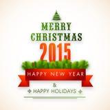 Concetto della celebrazione del buon anno e di Buon Natale Fotografia Stock Libera da Diritti