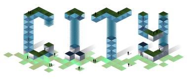Concetto 2019 della città illustrazione vettoriale