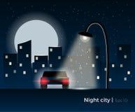 Concetto della città di notte Fotografia Stock