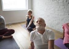 Concetto della classe di yoga Immagini Stock Libere da Diritti