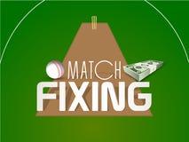 Concetto della combine del cricket con il dollaro e la palla Fotografia Stock