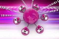 Concetto della comunicazione commerciale globale Fotografie Stock