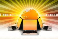 Concetto della comunicazione commerciale globale Immagine Stock