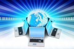 Concetto della comunicazione commerciale globale Fotografia Stock