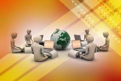 Concetto della comunicazione commerciale globale Fotografie Stock Libere da Diritti
