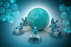 Concetto della comunicazione commerciale globale Immagine Stock Libera da Diritti