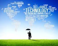 Concetto della comunicazione globale del collegamento della rete di tecnologia immagini stock libere da diritti