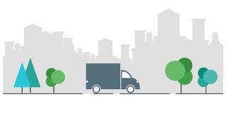 Concetto della consegna precisa Controlli l'applicazione di servizio di distribuzione sul vostro telefono cellulare Consegna di u royalty illustrazione gratis