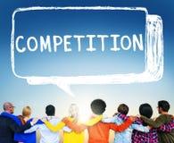 Concetto della corsa del gioco di conflitto di concorso della concorrenza Fotografia Stock