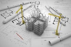 Concetto della costruzione Immagini Stock Libere da Diritti