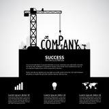 Concetto della costruzione della società di progettazione, illustrazione di vettore Immagine Stock Libera da Diritti