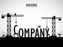 Concetto della costruzione della società di progettazione, illustrazione di vettore Fotografia Stock