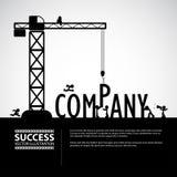 Concetto della costruzione della società di progettazione, illustrazione di vettore Immagine Stock