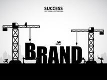 Concetto della costruzione di marca di progettazione, illustrazione di vettore Fotografia Stock Libera da Diritti