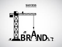 Concetto della costruzione di marca di progettazione, illustrazione di vettore Immagine Stock Libera da Diritti