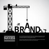 Concetto della costruzione di marca di progettazione, illustrazione di vettore Fotografie Stock