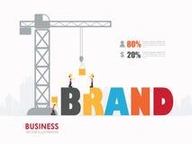 Concetto della costruzione di marca di progettazione, illustrazione di vettore Fotografie Stock Libere da Diritti