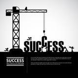 Concetto della costruzione di successo di progettazione, illustrazione di vettore Fotografie Stock