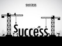 Concetto della costruzione di successo di progettazione, illustrazione di vettore Immagine Stock