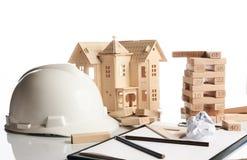 Concetto della costruzione e di affari Fotografie Stock Libere da Diritti