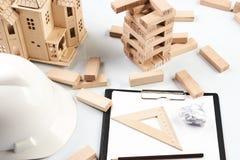 Concetto della costruzione e di affari Fotografia Stock Libera da Diritti