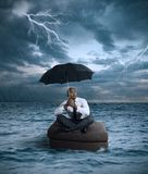 Tempesta di affari Fotografie Stock