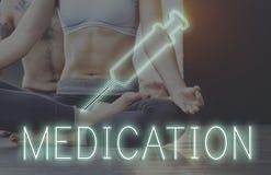 Concetto della cura di trattamento di sanità di meditazione immagini stock
