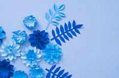 Concetto della decorazione del fiore del mestiere di carta Fotografie Stock