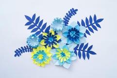 Concetto della decorazione del fiore del mestiere di carta Immagine Stock Libera da Diritti