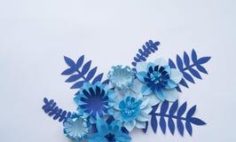 Concetto della decorazione del fiore del mestiere di carta Fotografia Stock Libera da Diritti