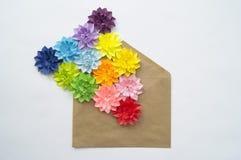 Concetto della decorazione del fiore del mestiere di carta Immagini Stock