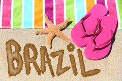 Concetto della destinazione di vacanza della spiaggia del Brasile Fotografie Stock Libere da Diritti