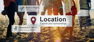 Concetto della destinazione di viaggio di viaggio di posizione immagini stock