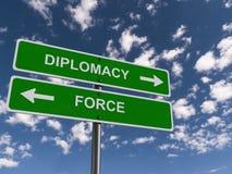 Concetto della forza o di diplomazia fotografia stock