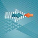 Concetto della freccia Fotografie Stock