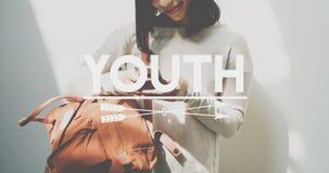 Concetto della generazione degli adolescenti della cultura della gioventù giovane Immagini Stock Libere da Diritti