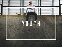 Concetto della generazione degli adolescenti di infanzia della cultura della gioventù giovane Immagini Stock Libere da Diritti