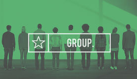 Concetto della gente della Comunità di Group Crowd Company Immagine Stock