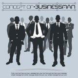 Concetto della gente di affari nel mondo Fotografia Stock Libera da Diritti