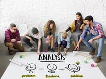 Concetto della gente di lampo di genio di pensiero creativo di analisi immagine stock