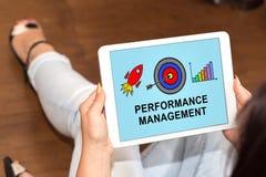 Concetto della gestione delle prestazioni su una compressa immagine stock libera da diritti