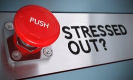 Concetto della gestione dello stress Fotografia Stock Libera da Diritti