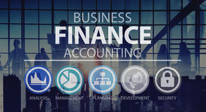 Concetto della gestione di analisi finanziaria di contabilità di affari Fotografie Stock Libere da Diritti